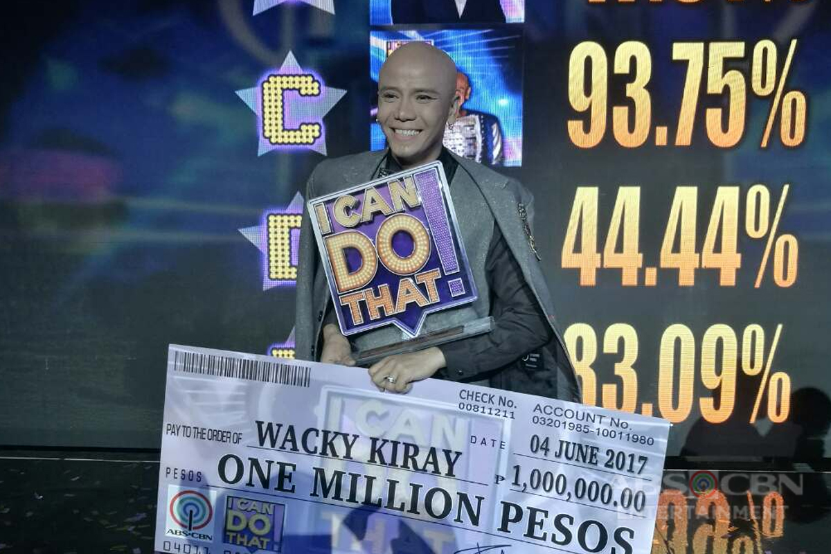 "Comedian Wacky Kiray brings home title as greatest entertainer of ""I Can Do That"""